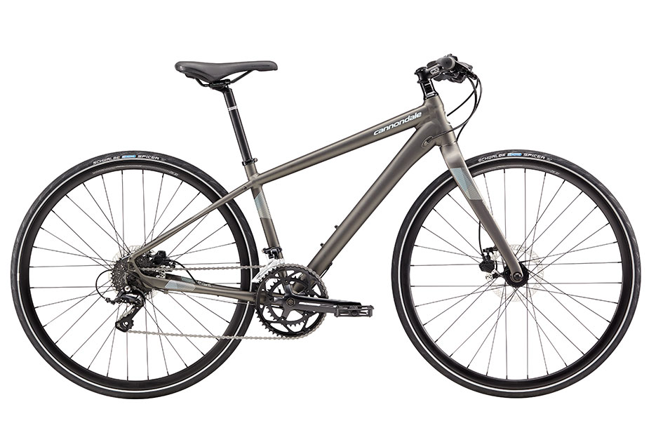2018 Cannondale Quick 3 Disc Anthracite Women's Fitness Hybrid