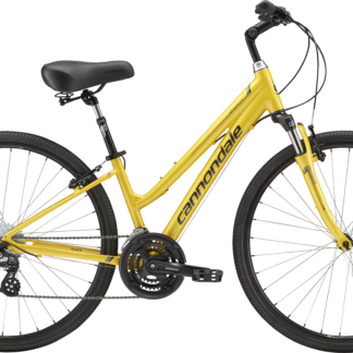 2018 Cannondale Adventure 2 Womens Canary Yellow Comfort Hybrid Bicycle