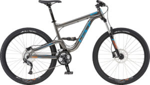 2017 GT Verb Comp Gray/Blue Full Suspension Mountain Bike