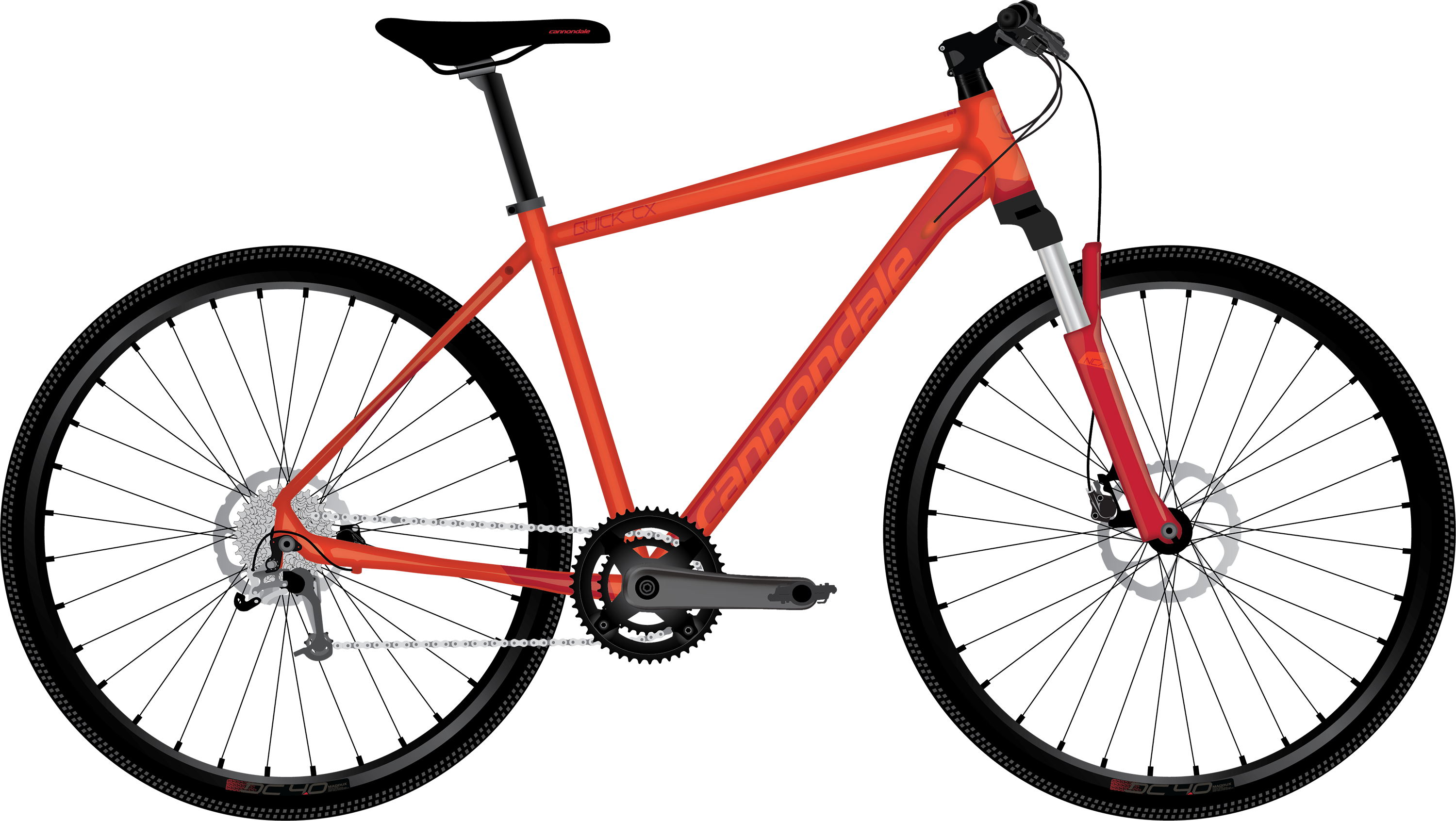 3beacb1c5b4 2018 Cannondale Quick CX Acid Red Men's Dual Sport