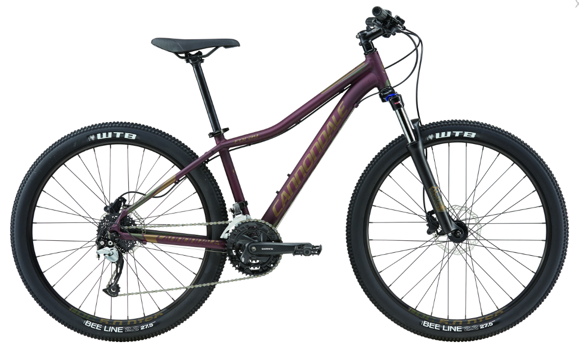 2017 CANNONDALE FORAY 1 OXBLOOD WOMEN'S HARDTAIL MOUNTAIN BIKE