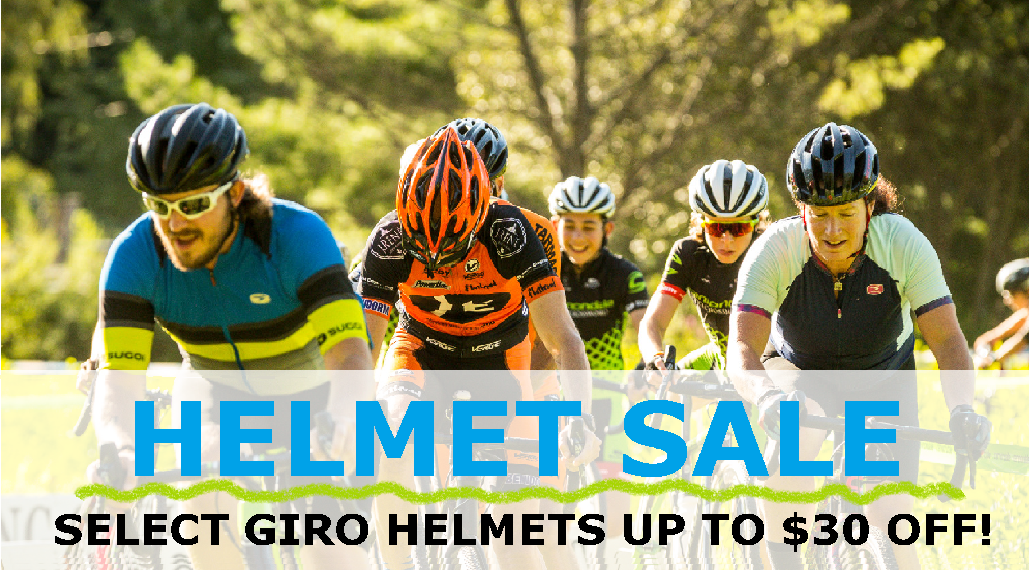 HELMET SALE! SELECT GIRO HELMETS UP TO $30 OFF!