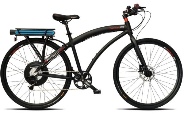 2017 Prodeco Tech Phantom 400 Black Fitness Hybrid Electric Bike