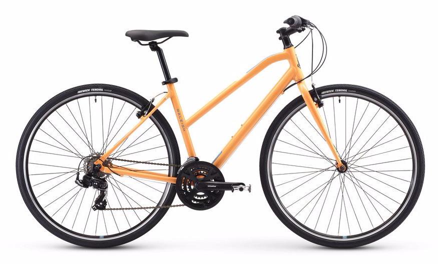 2018 Raleigh Alysa 1 Orange Womens Fitness Hybrid