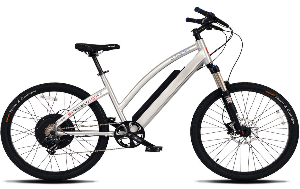 2017 Prodeco Tech Genesis Silver Electric Sport Comfort Bike
