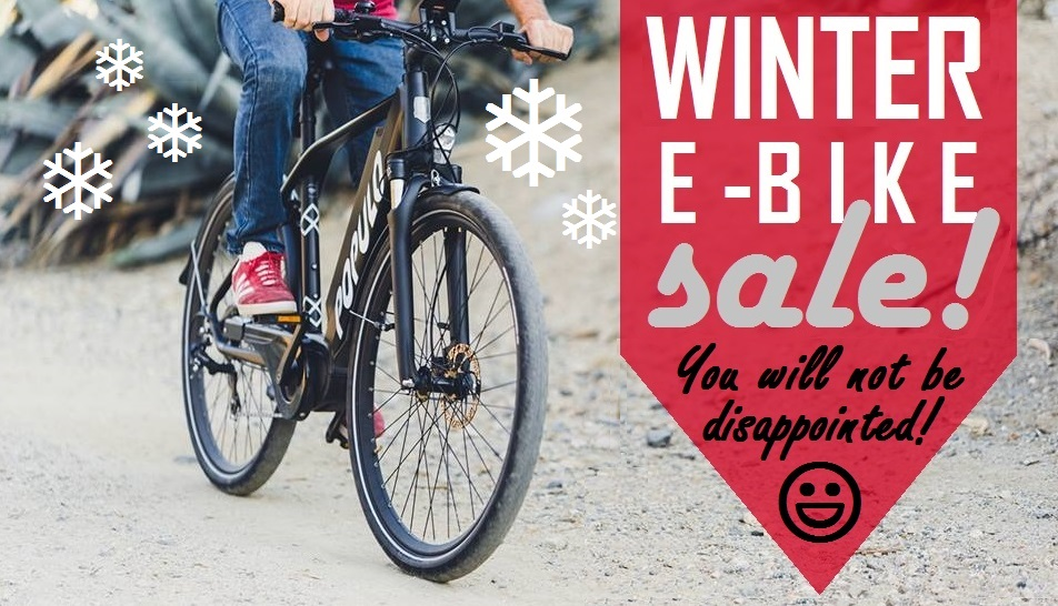 WINTER E-BIKE SALE! You will not be disappointed! (smiley face)