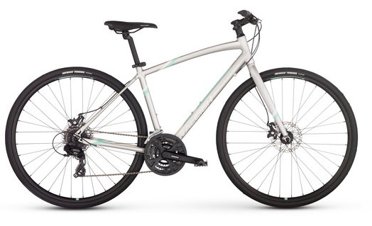 2017 Raleigh Alysa 2 Silver Womens Fitness Hybrid