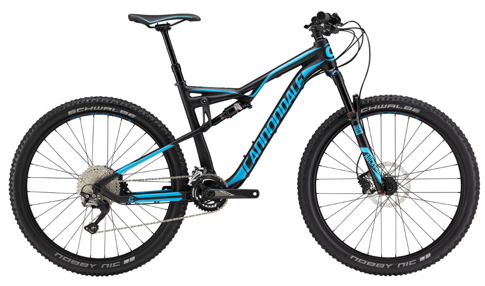 2017 Cannondale Habit 4 Black/Blue Men's Full Suspension Mountain Bike