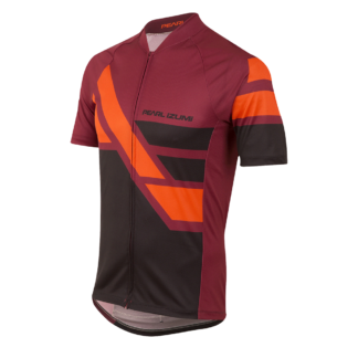 Pearl iZumi Men's MTB LTD Jersey Diagonal Tibetan Red Short Sleeved Jersey