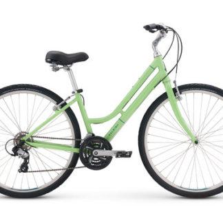 2018 Raleigh Detour 1 Step-Thru Green Women's Comfort Hybrid Bicycle