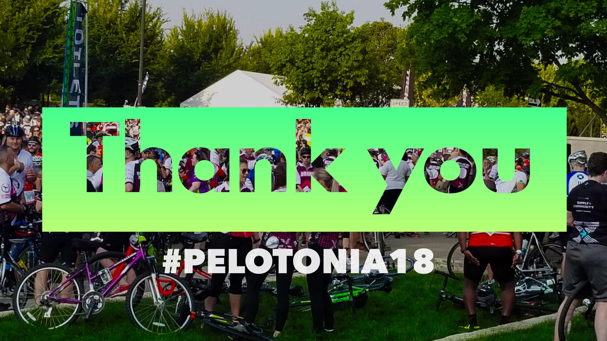 Thank you #pelotonia18