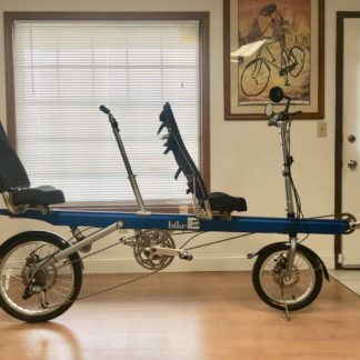 BIKE-E BLUE RECUMBENT