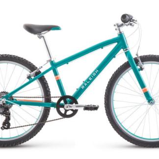 "2019 Raleigh Lily 24"" Teal Girl's Rigid Fork Mountain Bike"